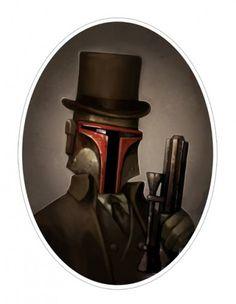 Victorian Star Wars Portraits:Bobafet