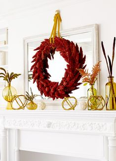 Try one of our one-hour fall crafts. With so many holidays around the corner, fall is the perfect time to do some extra decorating. If you're short on time the easy fall crafts will spruce up your home without stealing an entire afternoon. Fall Mantel Decorations, Thanksgiving Decorations, Seasonal Decor, Mantle Ideas, Christmas Decorations, Fall Home Decor, Autumn Home, Autumn Fall, Easy Fall Crafts