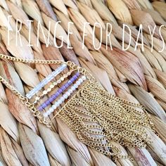 HOST PICK All That Fringe Necklace Who doesn't love fridge, am I right? Gold metal with faceted bead detail in multi-colors. This is 28 inches in length with a 2.5 inch extender, lobster claw clasp. All metal is lead and nickel compliant.                                                                Style Crush Host Pick 2/14/16            •Twitter: @BlowingBaubles Blowing Baubles Jewelry Necklaces