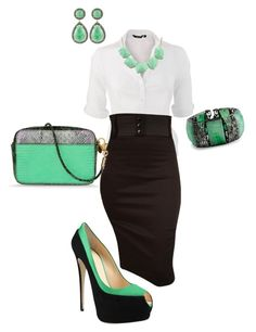"""""""Office basics with pops if color"""" by cami-sue ❤ liked on Polyvore featuring Switchblade Stiletto, Giuseppe Zanotti, STELLA McCARTNEY, Bochic and Majolie Collections"""