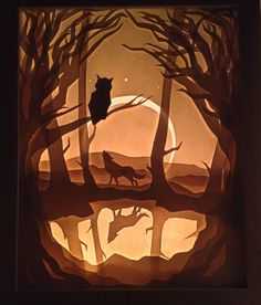 Forest Light Box - http://www.reddit.com/r/crafts/comments/2nzxgt/i_was_inspired_by_the_recent_light_boxes_posted/