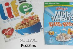 Homemade Puzzles For Toddlers - Happy Hooligans - Cereal Box Puzzles
