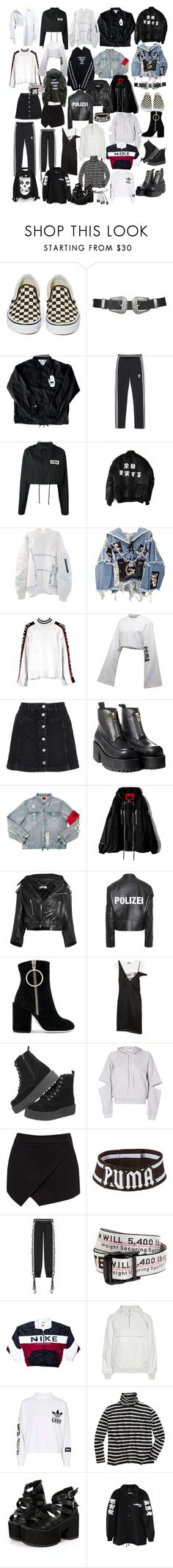 """ :// august"" by lalalalin ❤ liked on Polyvore featuring Vans, Topshop, adidas Originals, Hood by Air, BLK DNM, Tommy Hilfiger, Puma, UNIF, Balenciaga and Vetements"