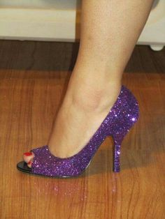 Shiney purple heels ♡