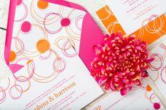 Circle wedding invitation suite - https://crmrkt.com/v9KGme #ad