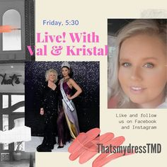 BIG NEWS! This Friday May 8th at 5:30 pm on the That's My Dress Facebook Page, live sale with #valdressmetowin and Kristal! You do not want to miss it! Instagram News, Big News, I Dress, Friday, Facebook, Live