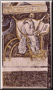 Moasaic showing Augustine of Hippo.