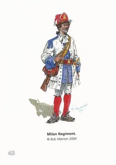 Soldier of The Milan Regiment (Spain). War of The Spanish Succession.