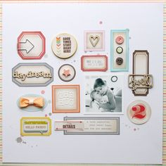 ** Chic Tags- delightful paper tag **: The Hug: A Layout of Labels