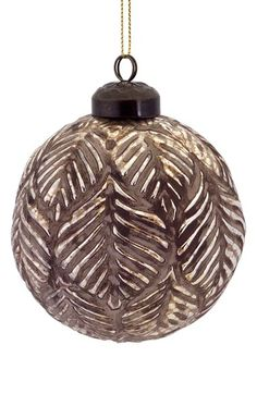Melrose Gifts Leaf Texture Round Ornament available at #Nordstrom