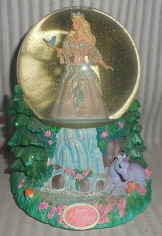 Barbie Swan Lake Princesses Musical Glitter Snow Globe Collectible {F3} AG