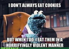 ❥ cookie monster :)