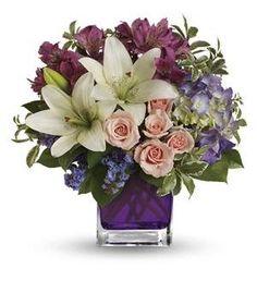 Teleflora's Garden Romance #flowers #anniversary #whitelilies