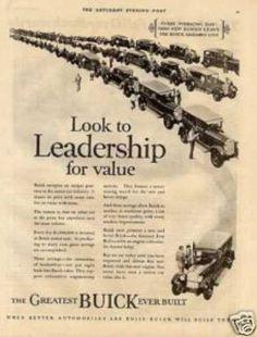 "Buick Car Ad ""Look To Leadership... (1926)"