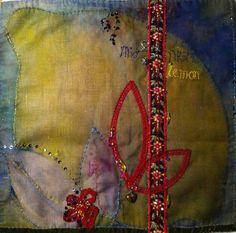 linenLEMON by Cassandra Wainhouse  midnight lemon 60cm x 60cm