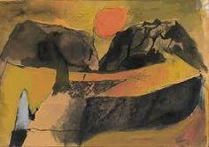 Image result for graham sutherland sun setting between hills