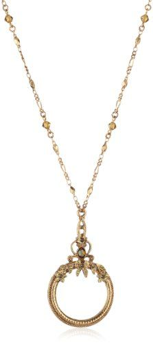 1928 Jewelry Ornate Magnifying Glass Necklace ($30.27 - $35.00)