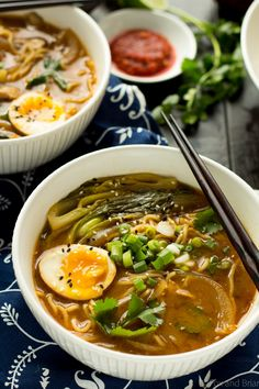 This Easy Chicken Ramen can be made at home in about 30 minutes! A flavorful bro. - This Easy Chicken Ramen can be made at home in about 30 minutes! A flavorful broth with chicken and - Ramen Noodle Recipes, Chicken Soup Recipes, Ramen Noodles, Noodle Noodle, Noodle Soups, Asian Recipes, Healthy Recipes, Japanese Recipes, Asian Foods
