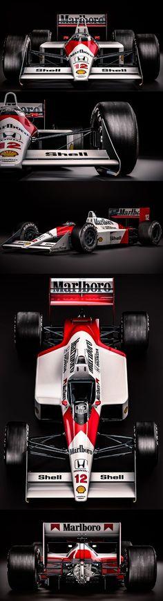 Mclaren Honda Ayrton Senna - World Champion 1988 Mclaren Formula 1, Formula 1 Car, Mclaren Cars, Mclaren Mp4, Nascar, Sport Cars, Race Cars, Carros Vw, Gp F1