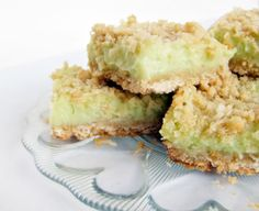 Key lime bars.