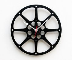 Recycled 16MM Movie Reel Clock by pixelthis on Etsy, $47.00