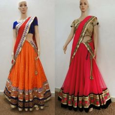 Stylish Half Sarees by Varuna Jithesh | Saree Blouse Patterns