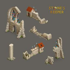 Game props for Stone's Keeper