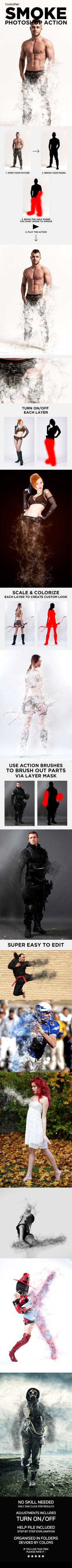 Smoke Photoshop Action - Smoke Effect Creator Action - Photo Effects Actions