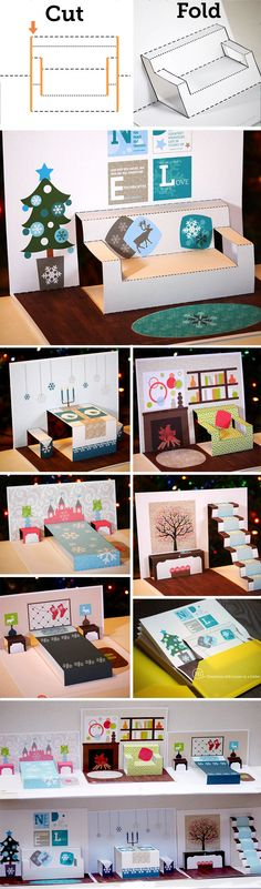 creative play, educational toy, Christmas dollhouse, preschool learning, labeled rooms for learning spelling words