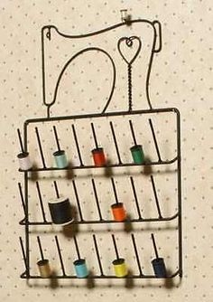 Sewing Machine Spool Thread Rack Holder Wrought Iron Black by Wire Decor… Sewing Room Decor, Sewing Room Organization, Sewing Rooms, Spool Holder, Thread Holder, Metal Projects, Metal Crafts, Sewing Machines Best, Sewing Machine Thread