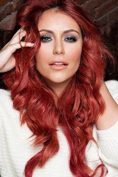Aubrey O'Day - love the red hair!