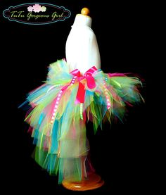 Toddler Birthday Bustle Tutu...Ribbon Tutu, Photo Prop, Costume, Dance, Pageant...Sizes 12 Months to 4T . . . BIRTHDAY SURPRISE. $45.00, via Etsy.