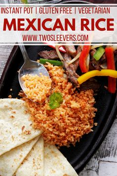 Mexican Rice | Mexican Rice Recipe | Instant Pot Mexican Rice | Pressure Cooker Mexican Rice | Best Mexican Rice Recipe | Arroz a la Mexicana | Rice Side Dish | Side Dish Recipes | Instant Pot Recipes | Gluten Free Recipes | Vegetarian Recipes | Two Sleevers | #twosleevers #mexicanrice #instantpot #glutenfree #vegetarian