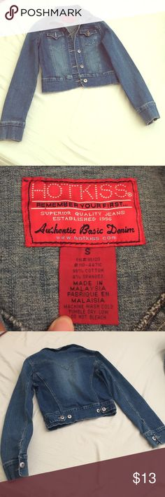 Denim jacket Worn a few times, still in very good condition. Falls above the hips. Hot Kiss Jackets & Coats Jean Jackets