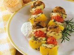Proven�aalse groentespiesjes - Libelle Lekker!