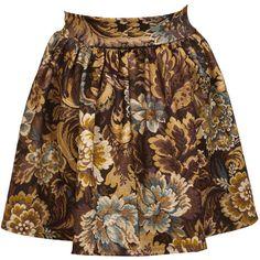 Miss Selfridge Tapestry Skater Skirt ($30) ❤ liked on Polyvore featuring skirts, bottoms, saias, gonne, assorted, floral print skirt, floral circle skirt, flared floral skirt, miss selfridge i floral knee length skirt