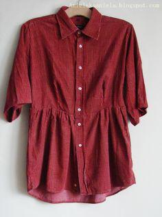 DIY tutorial men's shirt refashion diy meska bluzka jak przerobić męską koszulę ,jak przerobić i zwęzić koszulę? | Anielska Aniela-DIY,Tutorial,Sewing, Szycie,przeróbki,uroda,zdrowie -Blog o przeróbkach i szyciu