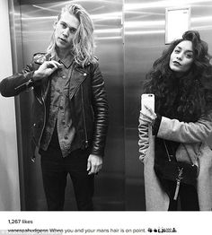 Well-coiffed couple: On Wednesday Vanessa Hudgens, 27, and her boyfriend Austin Butler, 24...