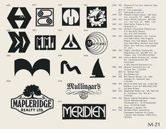 Eric Carl Collection of vintage logos from a edition of the book World of Logotypes jpg Logos Vintage Logo Design, Vintage Logos, Graphic Design, Logo Branding, Branding Design, Trademark Symbol, Corporate Logo Design, Brand Symbols, Retro Typography