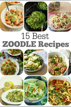 15 Best Zoodle Recipes (Recipes using spiralized Zucchini Noodles!) .