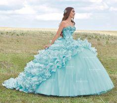 Strapless Ruffled Quinceanera Dress by Ragazza Fashion Style B79-379
