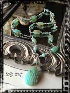 ❥ Belle West Peruvian Blue Opal Custom Necklace~ be sure to follow my blog for lots of upcoming giveaways...