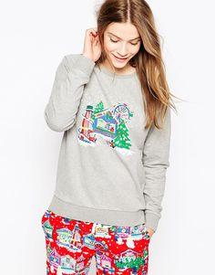 Cath Kidston Christmas Pyjama Sweater at ASOS. Cath Kidston Christmas Pyjamas, Christmas Jumpers, Christmas Sweaters, Christmas Pjs, Cath Kidston Clothes, Holiday Pajamas, Cute Pajamas, Christmas Fashion, Christmas Clothing