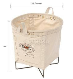Bins, Totes & Containers | Baskets & Caddy | All Purpose Canvas Basket 1.25 Bushel | 442633 - GlobalIndustrial.com