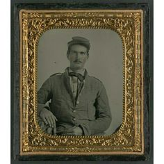 Corporal L. Purnell of Co. I, 11th Mississippi Infantry Regiment, in uniform; sixth-plate ambrotype, hand-colored; the LiljenquistFamily Collection; the Library of Congress.