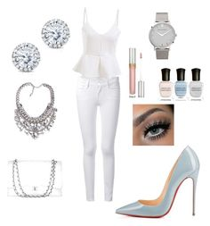 """All White Party ⚪️ read D"" by taryngallion ❤ liked on Polyvore"