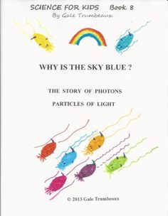 "Simple science experiment and explanations for ""Why is the sky blue?"" for kids."