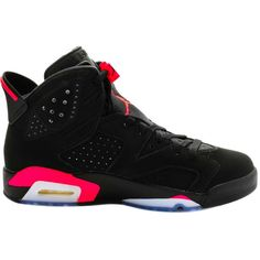 """Nike Jordan 6 """"Infrared"""" ($650) ❤ liked on Polyvore featuring mens, men's shoes, men's sneakers, shoes, jordans, sneakers, athletic shoes and shoeclub"""