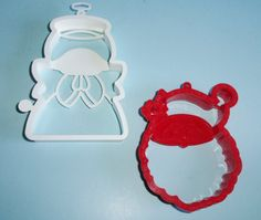 Hallmark HO HO HO Santa Claus And Angel Cookie Cutters by AnEclecticEccentrica