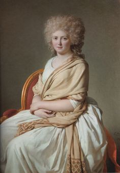 Anne-Marie-Louise Thélusson, Comtesse de Sorcy, 1800 (Jacques-Louis David) Neue Pinakothek, München-----the emphasis on the woman's beauty as opposed to the beauty of her clothing makes the painting special. Jacque Louis David, Jean Louis David, David Painting, Woman Painting, Mode Renaissance, Classic Paintings, Beautiful Paintings, Oil Painting Reproductions, French Artists